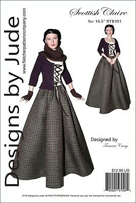 Outlander Scottish Claire Doll Sewing Pattern for RTB101 Body Rayne Tonner