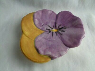 """Vintage Stangl Pansy Plate 6 1/2"""" Purple & Yellow"""