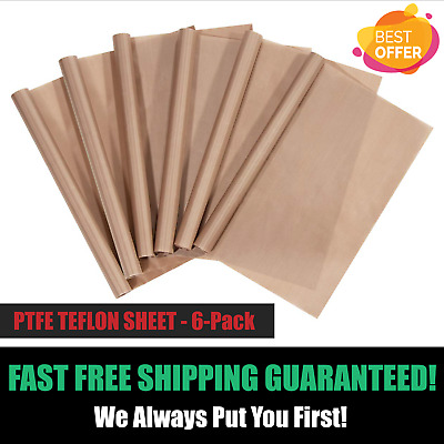 "PTFE Teflon Sheet 6-Pack Teflon Sheet for Heat Press Transfers 16 x 20"" Heat"