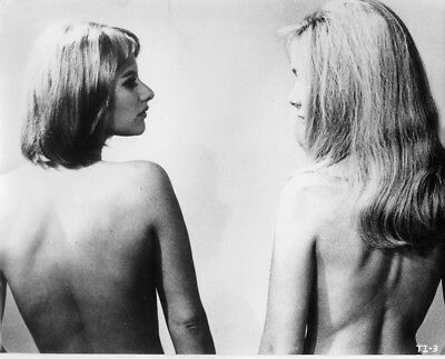 Therese and Isabelle 1968 original 8x10 photo Anna Gael Essy Persson in shower