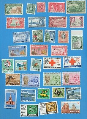 JAMAICA - scott 77 // 274 -  used hinged and MNH lot of 34     1920-1969