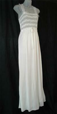 BEAUTIFUL Sheer Bust RAYON BIAS CUT Vintage 1930s 1940s NEGLIGEE NIGHTGOWN