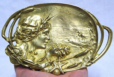 Coupelle  Vide- Poche Bronze 1900  Art Nouveau  Jugendstil / Decor Aquatique