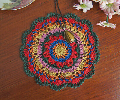 Cotton Hand Crochet Lace Doily Doilies Mat Placemat Round 18CM Multi-Coloured