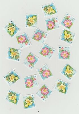 Canada 2018 Lotus Flower  10 Used Sets (20 stamps) from Booklet