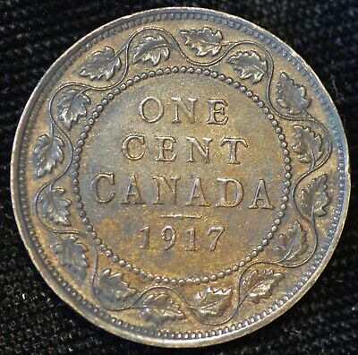 1917 EXTREMELY FINE-AU Canadian Large Cent #1 - FREE SHIPPING!!!