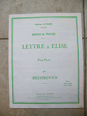 Partition Letter Elise For Piano Beethoven Grand Format