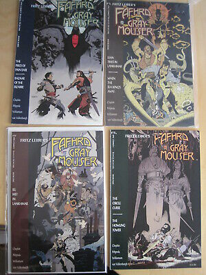FAFHRD & the GRAY MOUSER : complete 4 issue 1991 MARVEL/EPIC series by MIGNOLA +