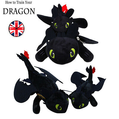 """10""""-24"""" How to Train Your Dragon: Night Fury Stuffed Plush Doll Toy Gifts HOT!!!"""