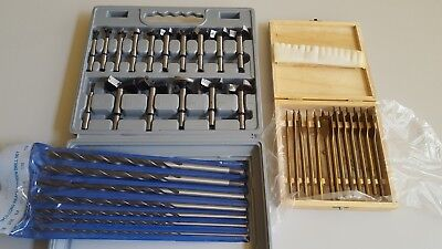 36Pcs Combination Forstner bits /Spade Bits/long wood drill bits Set