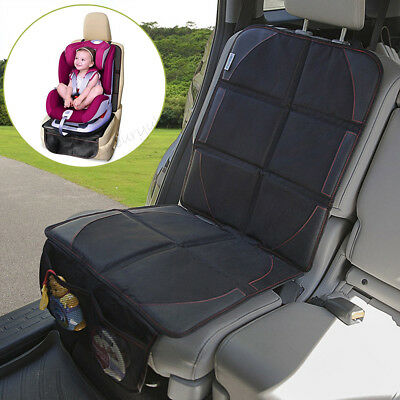 Child Baby Car Safety Seat Protector Mat Cushion Cover Non-Slip Waterproof Black