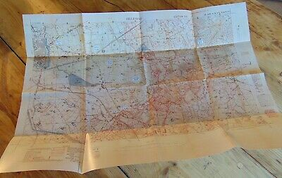 British WW1 ZILLEBEKE Ypres Trench Map Hill 60 Hooge Menin Rd Polygon Wood NEW