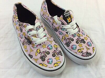 a427dfa3ca0684 Vans Off The Wall Girls Kids Size 13 Nintendo Mario Kart Pink Skateboard  Shoes