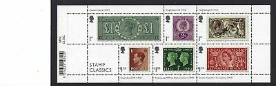 Great Britain 2019 Stamp Classics Miniature Sheet Unmounted , Mint, Mnh