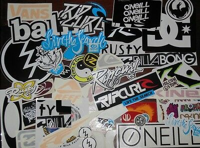 Surf Stickers Pack surfing stickers like RipCurl RustyBillabong Volcom DCVansVZ