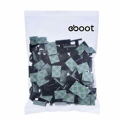 eBoot 100 Pieces Adhesive Cable Clips Cable Holder Clamps Cable Tie Holder