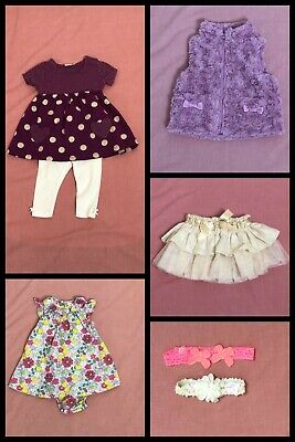 8 x Baby Girls Items Clothing Bundle Job Lot 3-6 months