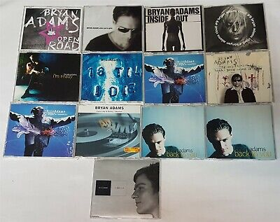 Bryan Adams Lot of 13 CD singles mostly promos Cuts Like A Knife Back To You