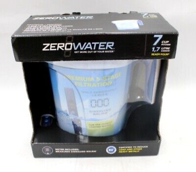 8beb5dc0b6e ZERO WATER 7 Cup Pitcher 1.7 Litre Ready To Pour Water Filter Jug ZP-007RP