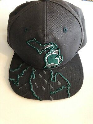 official photos fc1ad fcf81 Zephyr Hats Michigan State Spartans Mens Adjustable SnapBack Hat