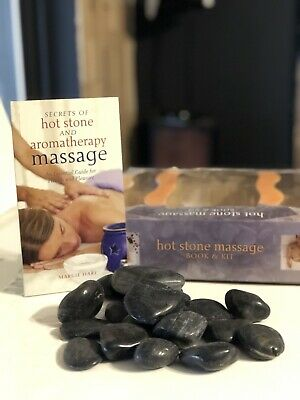Hot Stone Massage Book And Kit Hot And Cold Stone Massage Theraphy Stones