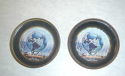 Lot of 2 New York World's Fair 1964-65 Unisphere Coasters