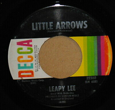 Leapy Lee Little Arrows / Time Will Tell 1968 Pop 45 on Decca