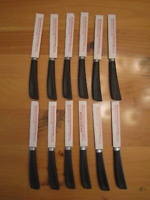 12) QUIKUT SHELL Oil Dealers Promotional Steak Knives-Stainless