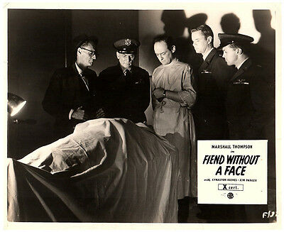 Fiend Without A Face Original Lobby Carte Horreur Marshall Thompson 1958