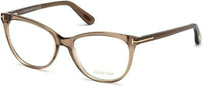 9b0d4a586453d Tom Ford TF 5513 FT5513 shiny transparent brown rose gold t logo 045  Eyeglasses