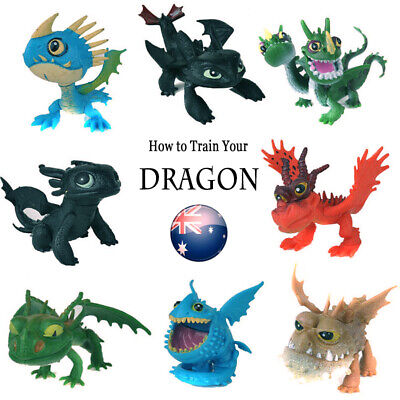 8PCS/SET How to Train Your Dragon Night Fury Figures Cake Topper Gronckle Toy