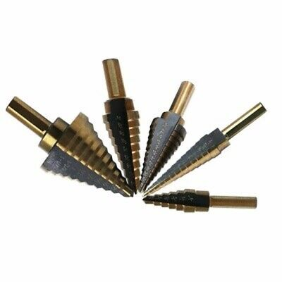 5pcs 50 Size HSS Cobalt Multiple Hole Step Drill Bit High Speed Steel Hog US