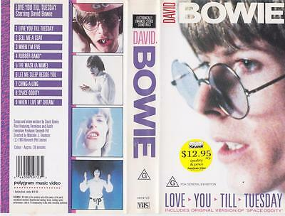 David Bowie  Love You Till Tuesday Video Vhs Pal  A Rare Find