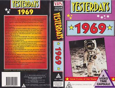 Yesterdays  1969 Vhs Video Pal~ Very  Rare Find~