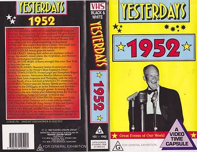 Yesterdays  1952 Vhs Video Pal~ Very  Rare Find~