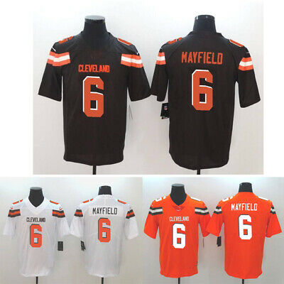 ec0812a749a  New Men s Baker Mayfield Cleveland Browns White Brown Orange Jersey Size M-