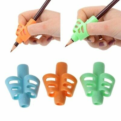 10x Two-finger Grip Silicone Kids Writing Aid Grip Posture Correction Holder New