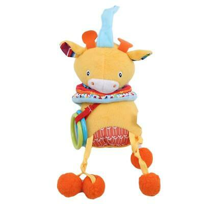 Baby Bell Hanging Stroller Toy Plush Rattles Bed Animal Doll Infant Soft Play LC