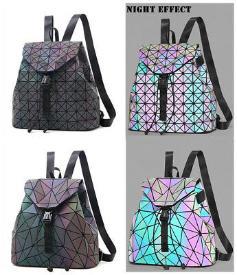 Fashion Luminous Backpack Diamond Lattice Bag Travel Geometric Women Bag b197c31351d34