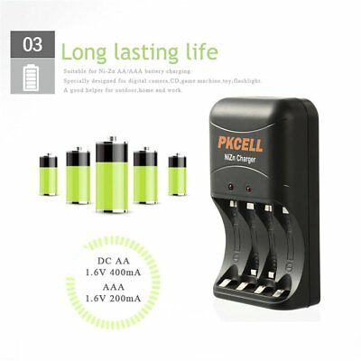 PKCELL Battery Charger Fast Charging For Ni-Zn AA/AAA Battery ChargingQZU PlugDY