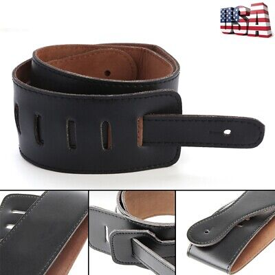Adjustable Soft PU Leather Thick Strap Belt For Electric Acoustic Guitar Bass US