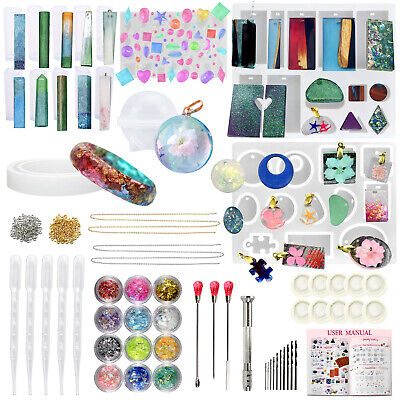 Cabochon Gemstone Resin Silicone Mould for Jewellery Pendant Necklace 157-Piece