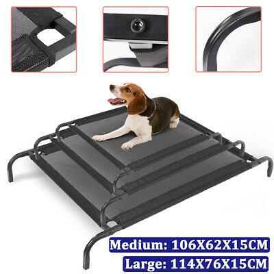 New S/M/L Portable Folding Dog Pet Elevated Bed Waterproof Raised Camping Basket
