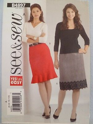 91ee50b1544 Butterick B4897 See   Sew Pattern Misses  misses  Petite Skirt Sizes ...