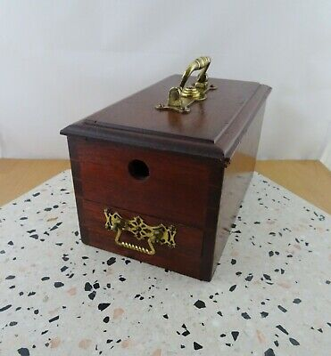 Vintage Antique Wooden Ballot Voting Box with Clay Marbles Fraternal / Masonic