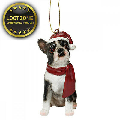 46d2115c75f Design Toscano Boston Terrier Holiday Dog Christmas Tree Ornament Xmas.
