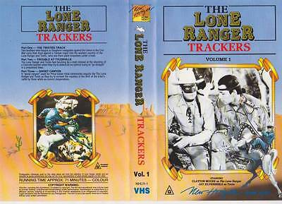 The Lone Ranger Trackers  Vhs Pal Video  A Rare Find