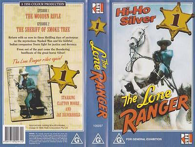 The Lone Ranger One Vhs Pal Video  A Rare Find