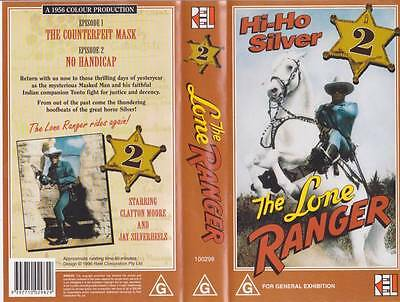 The Lone Ranger Two Vhs Pal Video  A Rare Find