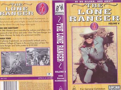 The Lone Ranger Volume 4 Hi Ho Silver And Away! Vhs Pal Video  A Rare Find